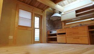 自然素材のお家に住める幸せ、石場建てお家完成、キッチン手作り12,12